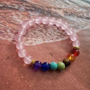 Jewelry - 🧘♂️NWT Pink 7 Chakra Healing Balance  bracelet